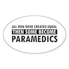 Paramedic design Sticker (Oval)