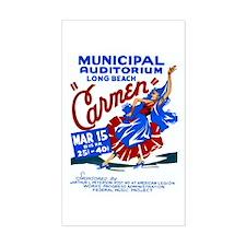 Carmen WPA Poster Decal