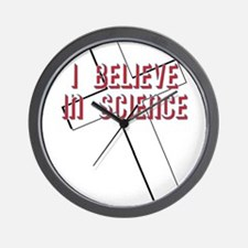 I believe in science Wall Clock