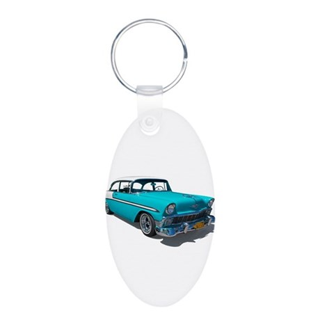 '56 Chevy Bel Air Aluminum Oval Keychain