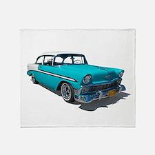 '56 Chevy Bel Air Throw Blanket