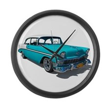 '56 Chevy Bel Air Large Wall Clock