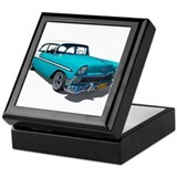 56 chevy Square Keepsake Boxes