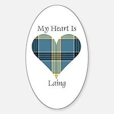 Heart - Laing Sticker (Oval)