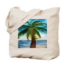 Palm Tree Blue Sky Tote Bag