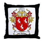 Van Santen Coat of Arms Throw Pillow