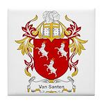 Van Santen Coat of Arms Tile Coaster