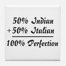Half Italian, Half Indian Tile Coaster