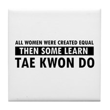 Taekwondo designs Tile Coaster