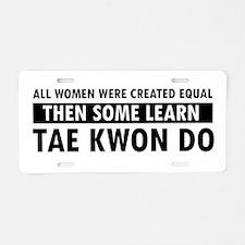 Taekwondo designs Aluminum License Plate
