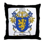 Van Ryn Coat of Arms Throw Pillow