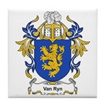 Van Ryn Coat of Arms Tile Coaster