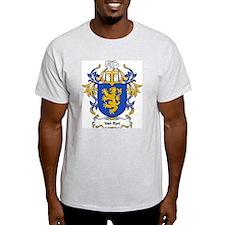 Van Ryn Coat of Arms Ash Grey T-Shirt