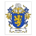 Van Ryn Coat of Arms Small Poster