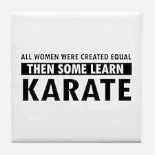 Karate design Tile Coaster