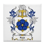 Ruysch Coat of Arms Tile Coaster