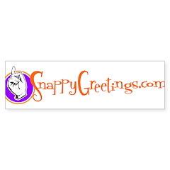 Snappy Greetings Bumper Bumper Sticker