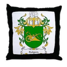 Rutgers Coat of Arms Throw Pillow