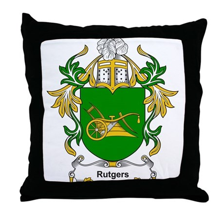 Rutgers Coat of Arms Throw Pillow