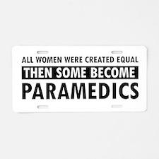 Paramedic design Aluminum License Plate