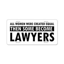 Lawyer design Aluminum License Plate