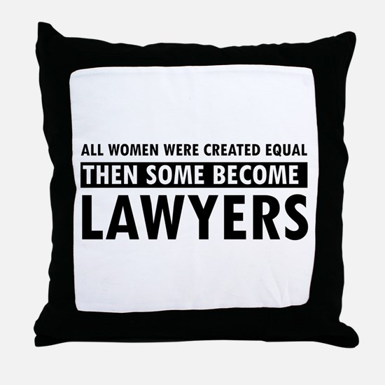 Lawyer design Throw Pillow