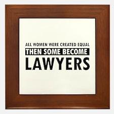 Lawyer design Framed Tile