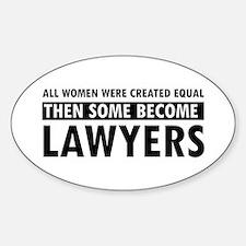 Lawyer design Sticker (Oval)