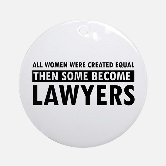 Lawyer design Ornament (Round)