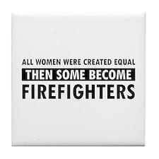 Firefighter design Tile Coaster
