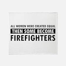 Firefighter design Throw Blanket