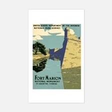 Fort Marion National Monument Sticker (Rectangle)