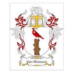 Van Rossum Coat of Arms Small Poster