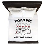 Bowling Ain't For Sissies King Duvet