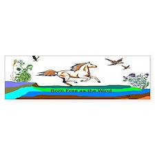 Born Free Bumper Bumper Sticker