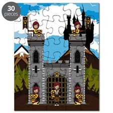 Medieval Knights and Castle Puzzle
