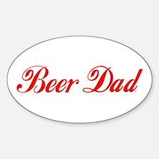 Beer Dad Sticker (Oval)