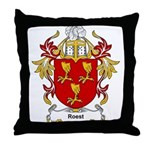 Roest Coat of Arms, Family Cr Throw Pillow