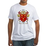 Roest Coat of Arms, Family Cr Fitted T-Shirt