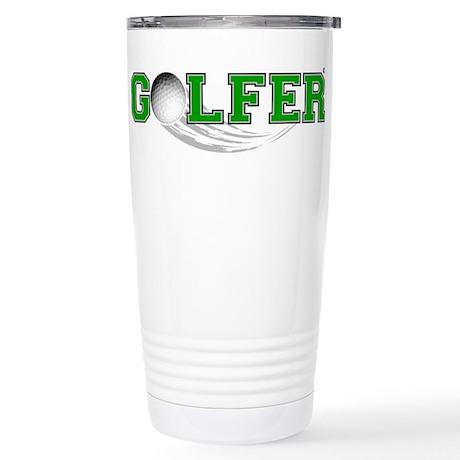 Golfer Stainless Steel Travel Mug