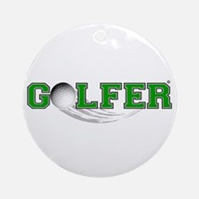 Golfer Ornament (Round)