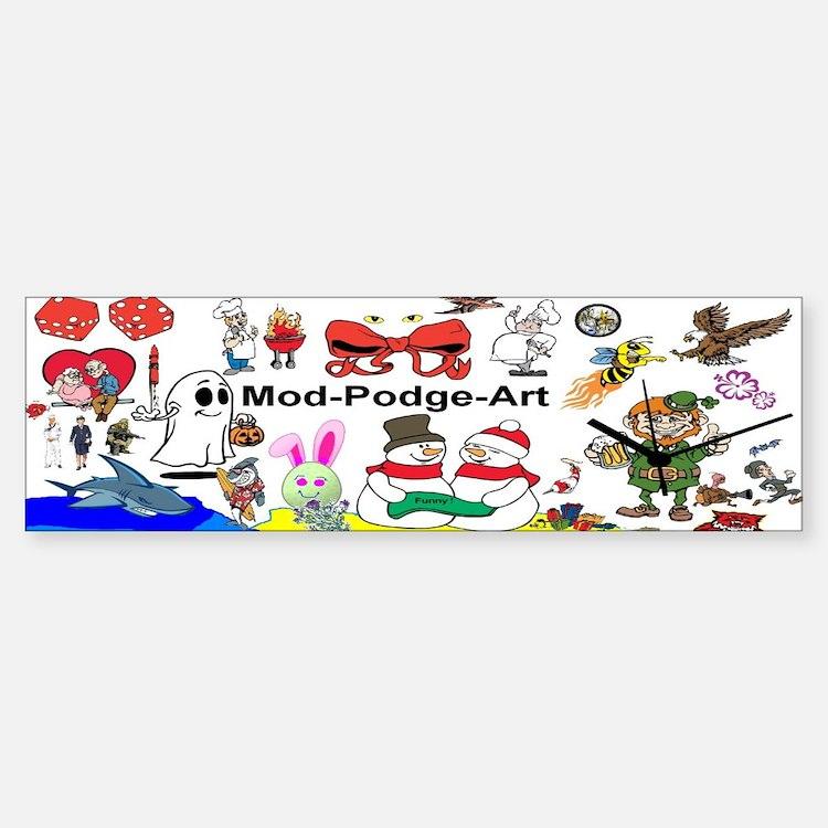Mod Podge Art Sticker (Bumper)