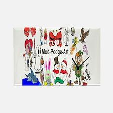 Mod Podge Art Rectangle Magnet