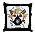 Roelands Coat of Arms Throw Pillow