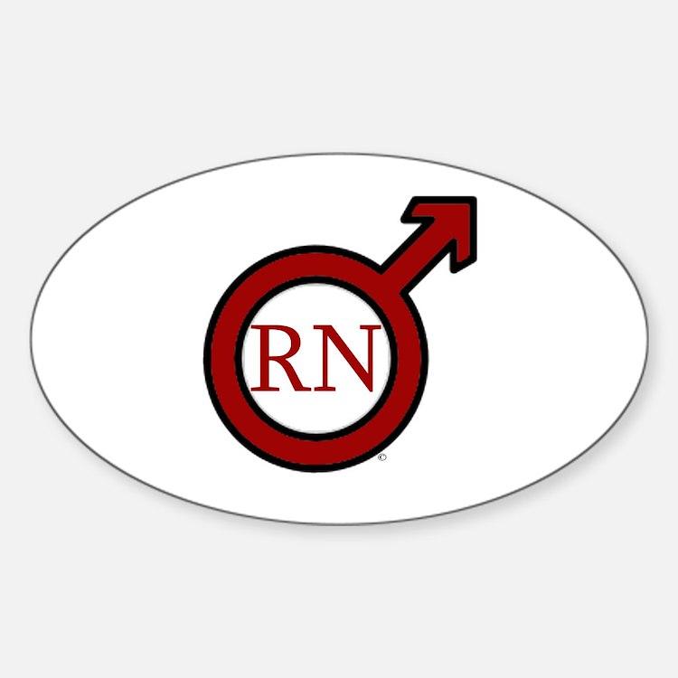 RN Man Sticker (Oval)