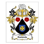 Roelands Coat of Arms Small Poster