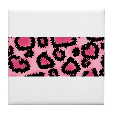 Pink animal print pattern Tile Coaster