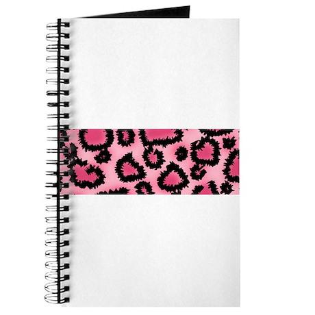 Pink animal print pattern Journal