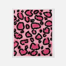Pink animal print pattern Throw Blanket