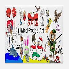 Mod Podge Art Tile Coaster